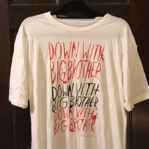 Down with Big Brother Orwell T-shirt